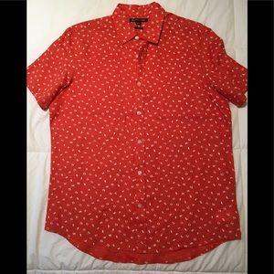 NWOT Michael Kors Linen Button Down Shirt
